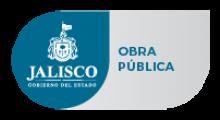 Logotipo del estado de Jalisco junto con la leyenda de la Secretaría de Infraestructura y Obra Pública.