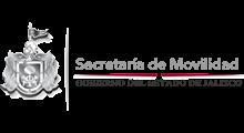 Logotipo del estado de Jalisco junto con la leyenda de la Secretaría de Movilidad.