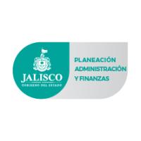 Logotipo del estado de Jalisco junto con la leyenda de la Secretaría de Planeación, Administración y Finanzas