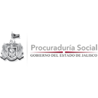 Logotipo del estado de Jalisco junto con la leyenda de la Procuraduría Social.